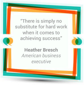 There is simply no substitute for hard work when it comes to achieving success. Heather Bresch, American business executive.