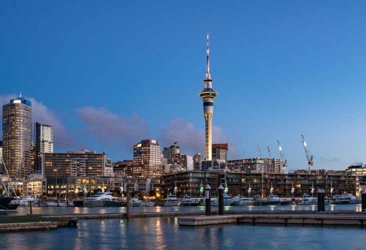 Auckland -New Zealand-sky-tower-Viaduct-Harbour
